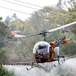 Kawak Aviation Bell 47 aerial agriculture auxiliary hydraulic spray system