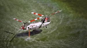 Billings CH47D flight testing new Kawak hover refill system