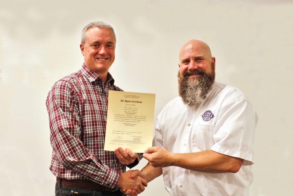 Kawak Earns Part-145 repair station certificate